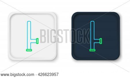 Line Police Rubber Baton Icon Isolated On White Background. Rubber Truncheon. Police Bat. Police Equ