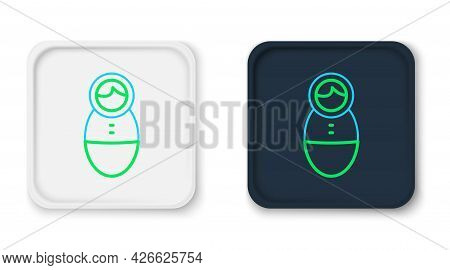 Line Tumbler Doll Toy Icon Isolated On White Background. Colorful Outline Concept. Vector
