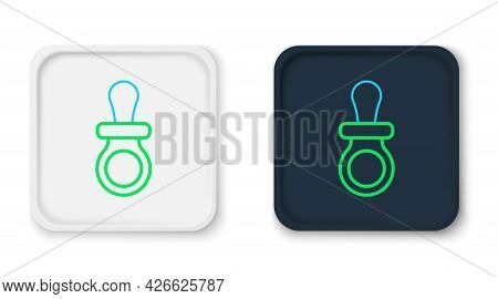Line Baby Dummy Pacifier Icon Isolated On White Background. Toy Of A Child. Colorful Outline Concept