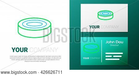 Line Checker Game Chips Icon Isolated On White Background. Colorful Outline Concept. Vector