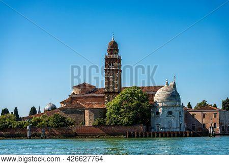Venice Lagoon. Church Of San Michele In Isola Also Called San Michele Di Murano In Renaissance Style