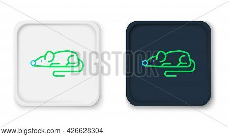 Line Experimental Mouse Icon Isolated On White Background. Colorful Outline Concept. Vector