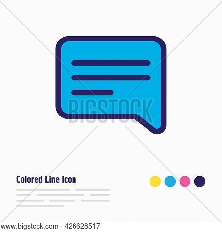 Illustration Of Speech Icon Colored Line. Beautiful Community Element Also Can Be Used As Chatting I