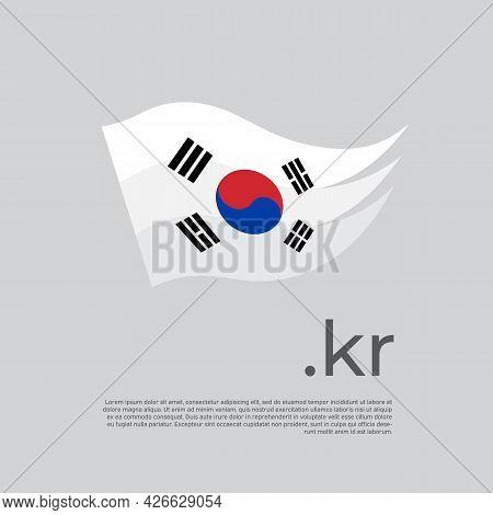 South Korea Flag. Stripes Colors Of The South Korean Flag On A White Background. Vector Design Natio