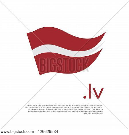 Latvia Flag. Stripes Colors Of The Latvian Flag On A White Background. Vector Design National Poster