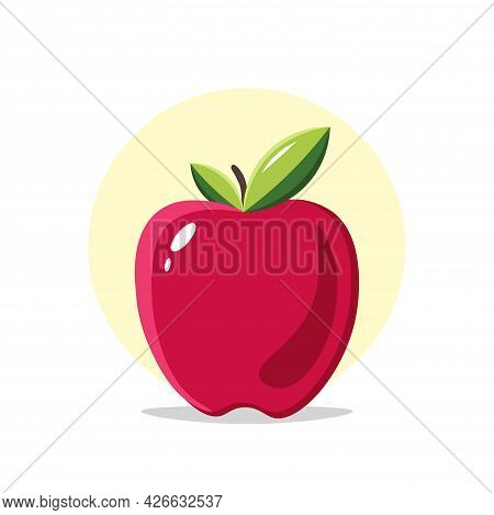 Red Apple Clipart. Apple Isolated Simple Vector Clipart