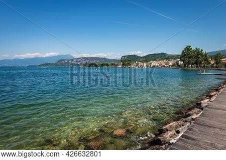 Small Village Of Bardolino With The Port, Tourist Resort On The Coast Of Lake Garda (lago Di Garda).