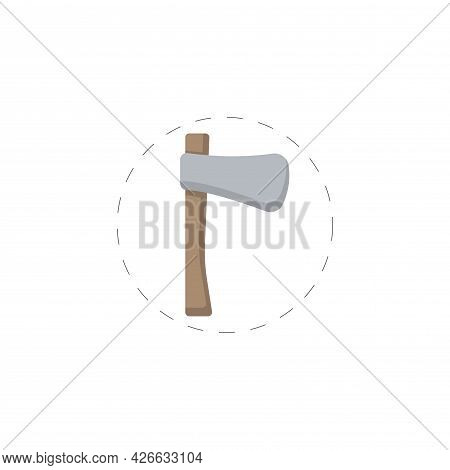Ax Colored Clipart. Ax Colored Isolated Simple Vector Clipart