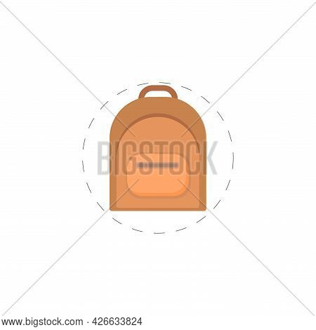 Backpack, Rucksack. Knapsack. Schoolbag. Sack Clipart. Backpack Isolated Simple Vector Clipart