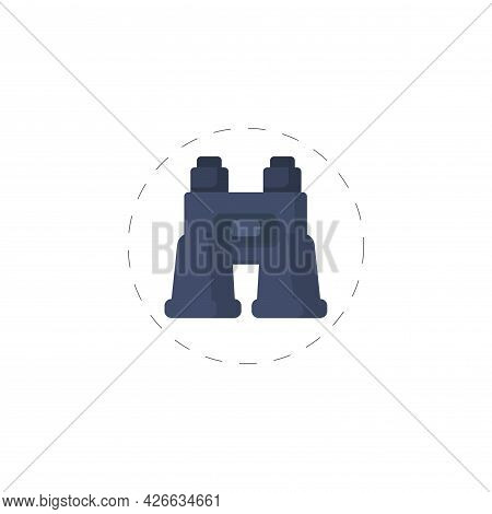 Binoculars Clipart. Binoculars Isolated Simple Vector Clipart