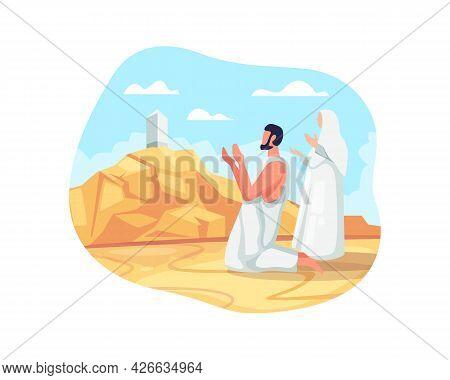 Hajj Pilgrims Pray At Mount Arafat
