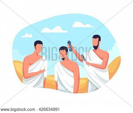 Hajj Pilgrims Shave Their Heads