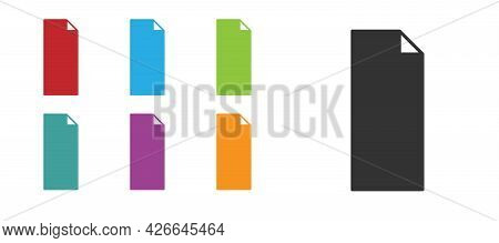 Black Grip Tape On A Skateboard Icon Isolated On White Background. Set Icons Colorful. Vector