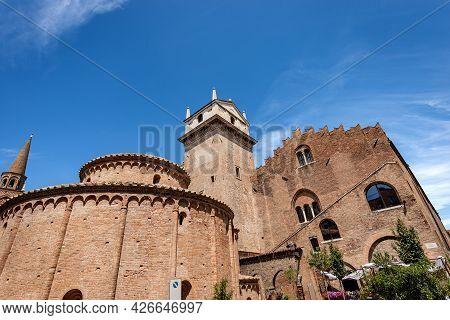 Mantua, Church Rotonda Di San Lorenzo In Romanesque Style (1083-xi Century) And The Medieval Palazzo