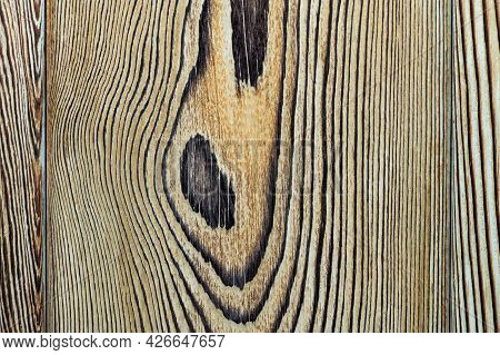 Vintage Wood Texture With Knots. Closeup Topview For Background Or Artworks.