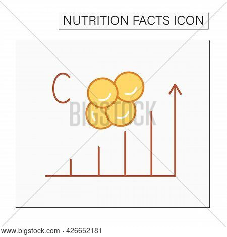 Cholesterol Content Color Icon. Cholesterol High Level. Energy Value. Nutrition Facts. Nutrition Sup