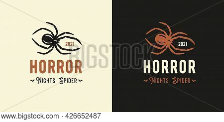 Horror Spider And Insect For Web Halloween Design