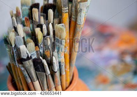 art tools in the studio