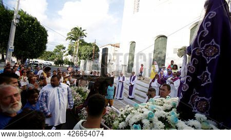 Religious Procession With Sacred Symbols