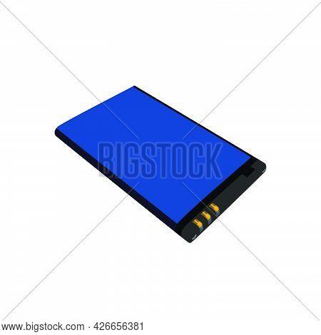 Vector  Illustration Of Classic Cellphone Battery Baterai