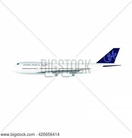 Modern And Attractive Airplane Illustration With An Attractive  Appearance