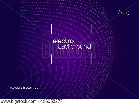 Neon Electronic Event. Electro Dance Dj. Trance Sound. Club Fest