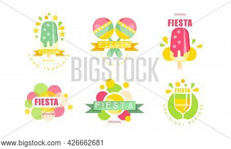 Bright Fiesta Saint Day Celebration Original Design Vector Set