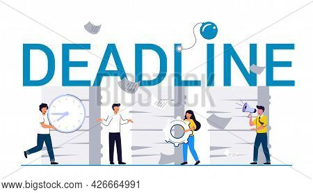 Deadline Office Work Stress In The Office Rush Work Unorganised Management Deadline Businessman Stre