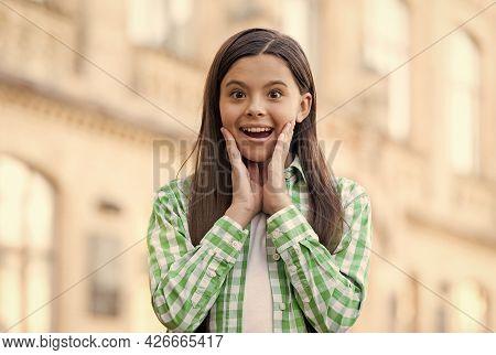 Visit Your Dentist Regularly. Happy Kid Smile Urban Outdoors. Dental Health. Oral Hygiene. Pediatric