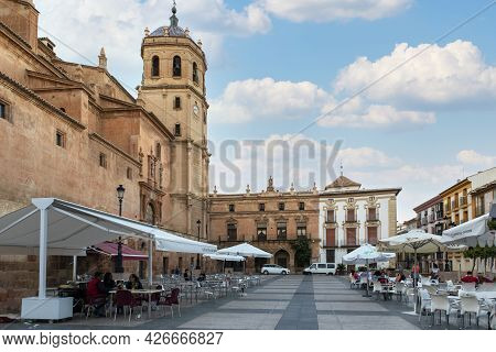Lorca, Murcia, Spain.05-12-2021. The Plaza De España Is The Most Emblematic Monumental Space In The