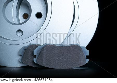 Mechanic Part. New Metal Car Part. Auto Motor Mechanic Spare Or Automotive Piece Isolated On Black B