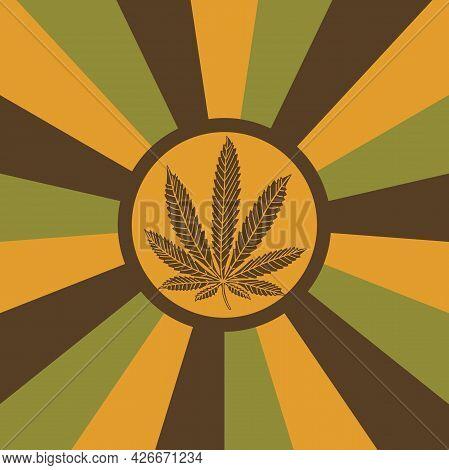 Marijuana - Cannabis As A Background. Illustration Of Marijuana - Cannabis As An Abstract Background