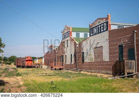 Medicine Hat, Alberta - July 11, 2021: The Historic Medalta Potteries Factory Has Been Refurbished A