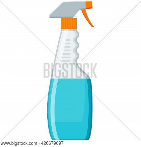 Spray Cleaner Bottle Vector Chemical Detergent On White