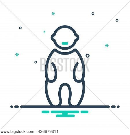 Mix Icon For Baby Child Kid Tad Laddie Youngling Infant Little