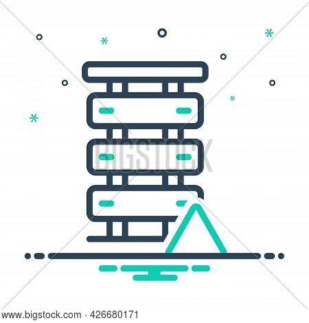 Mix Icon For Server-error Server Error Database Exclamation Network Alert Unavailable Notification