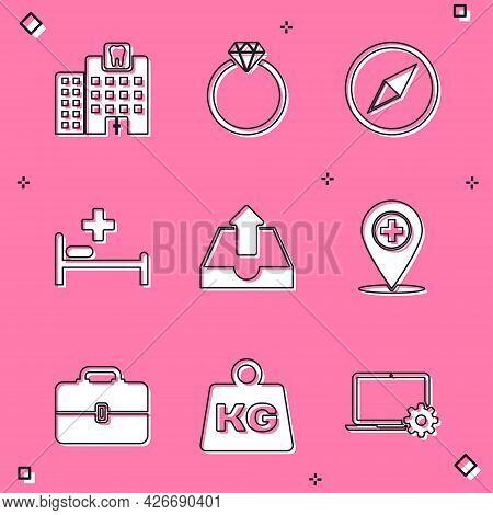 Set Dental Clinic, Diamond Engagement Ring, Wind Rose, Hospital Bed, Upload Inbox And Medical Locati