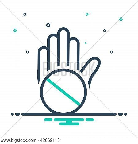 Mix Icon For Objection Convulsions Exception Slander Exclusion Denigration Mudslinging