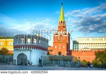 Moscow, Russia-july 5, 2021: View Of The Kremlin.one Of The Main Attractions