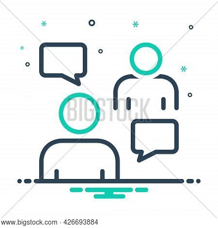 Mix Icon For Persuasive Negotiation Conversation Discussion Agreement Debate Msg Bubble Chat