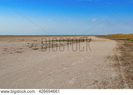 Desert In The Black Sea Biosphere Reserve Near Zaliznyi Port (kherson Oblast, Ukraine). Beautiful St