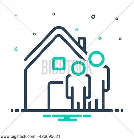 Mix Icon For Ours We House Home Residence Accommodation Habitation People