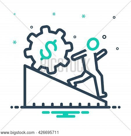 Mix Icon For Overreach Regulatory People Business Citizen Requirement Tax