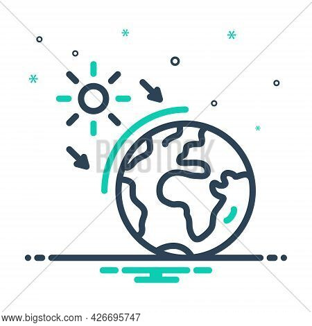 Mix Icon For Ozone World Layer Earth Geography Global Atmosphere Surface Sun Global-warming Protecti