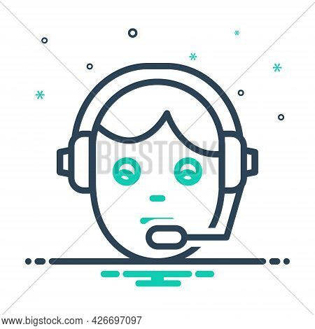 Mix Icon For Support Telecommunications Customer-support Customer Support Customer-service Assistant