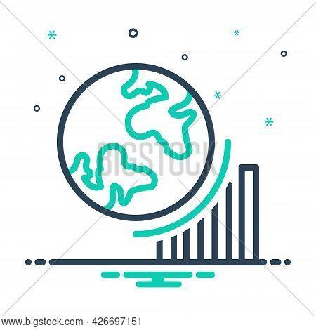 Mix Icon For Globel-progress Growth Achieve Achievement Analyst Success Progress Graph Graphic