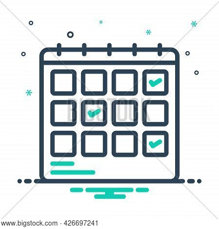 Mix Icon For Schedule-planning Planification Project Progress Planning Schedule