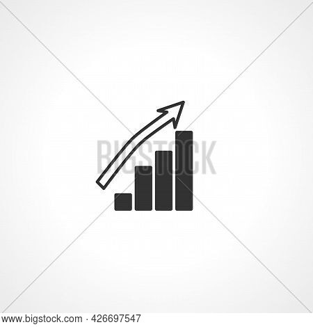Bar Chart Icon. Bar Chart Isolated Simple Vector Icon