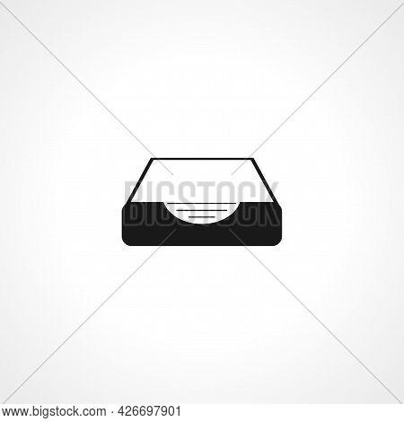 Social Media Inbox Icon. Inbox Isolated Simple Vector Icon