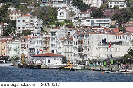 Buildings In Bosphorus Strait Side Of Istanbul City, Turkey